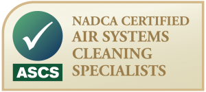 NADCA Certified Air systems cleaning specialist